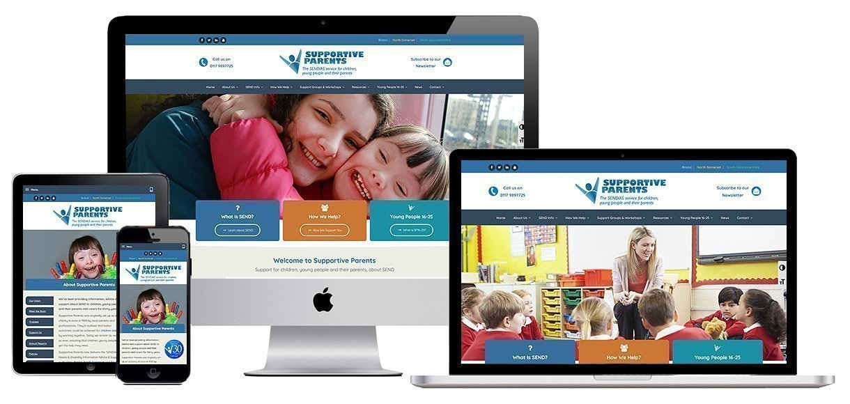 Case Study - Web Design Portfolio - Charity Web Design - Supportive Parents