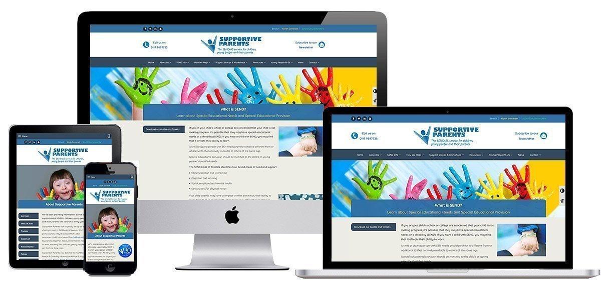 Web Design Portfolio - Case Study - Supportive Parents