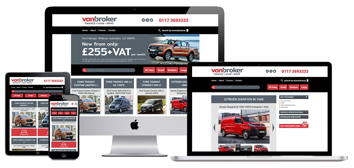Web Design Portfolio - Vehicle Rental Web Design