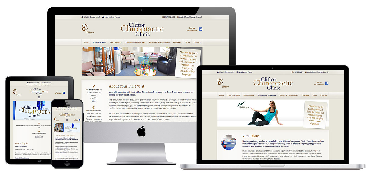 Web Design Portfolio - Case Study - Clifton Chiropractic