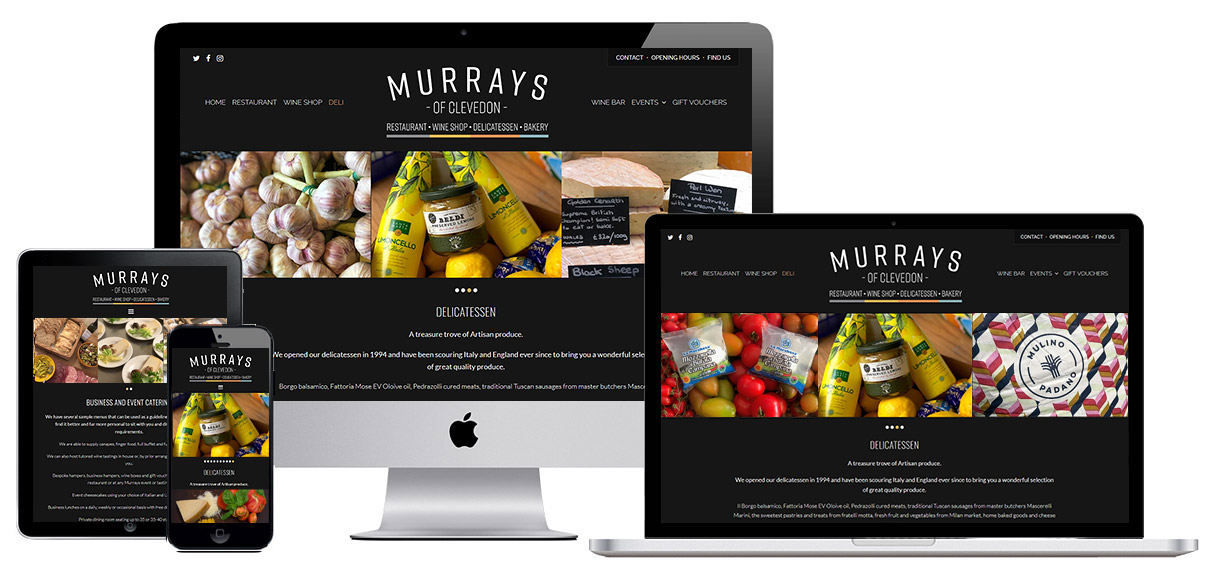 Case Study - Murrays of Clevedon - Deli page