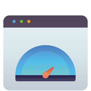Dashboard website maintenance and performance icon