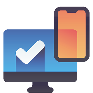 Adaptative responsive web design - Desktop and smartphone