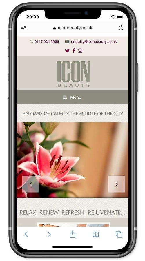 Website screenshot - Icon Beauty