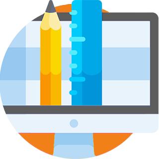 Graphic design concept icon