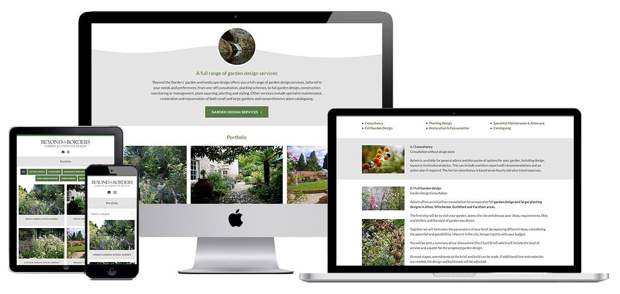 Website Design Portfolio - Beyond the Borders screenshot 2