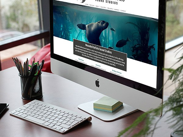Screenshot of website on desktop computer - Website for Bristol sound studio company