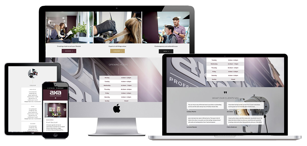 Web Design Portfolio - Bristol Hair Salon