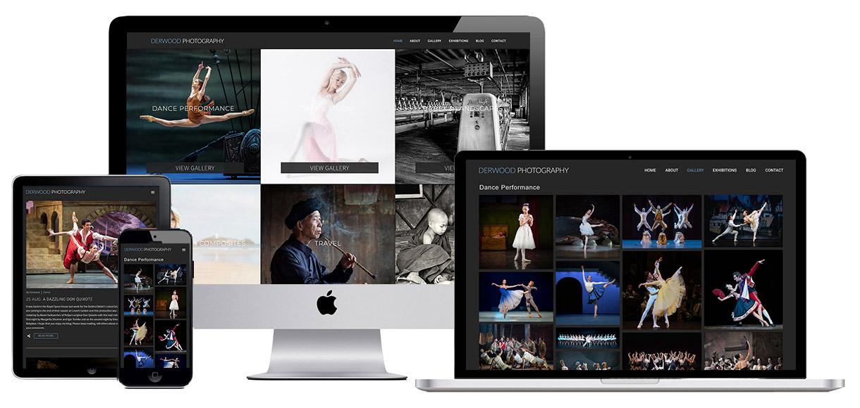 Photography website screenshot 2